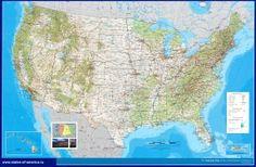 Подробная карта США