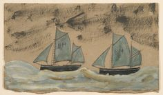 Two Boats - Alfred Wallis