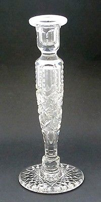 American Brilliant Period Cut Glass candle stick Antique