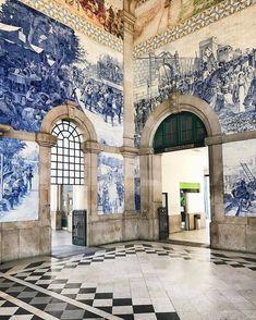 "29.5 k gilla-markeringar, 330 kommentarer - ELLE DECOR (@elledecor) på Instagram: ""Why can't all railway stations look like this? | Photo: @miss_anastasia_u #regram #portugal…"""