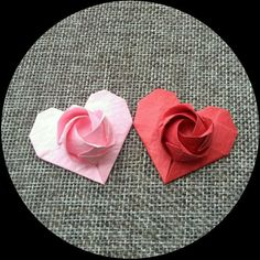 Pin by Katrins Diciotto on Origami Hearts Origami Paper Folding, Origami And Quilling, Origami Rose, Origami Flowers Tutorial, Origami Instructions, Flower Tutorial, Diy Paper, Paper Crafts, Money Origami