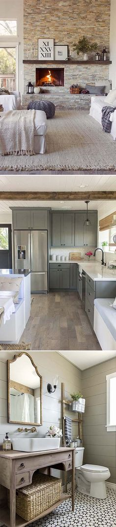 Ultra-cozy cottage farmhouse by Jenna Sue Design Co.