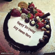 write name on chocolate birthday cake wishes for friends name ...