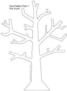 free tree pattern for scrapbooking card making and home decorating craft projects - Rebecca Ludens