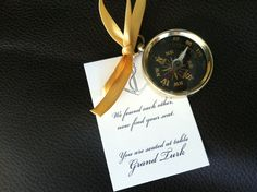 Small Pocket Compass Wedding Favors  SAMPLE by LHCalligraphy, $3.50