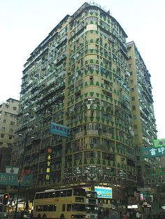 Decayed buildings ing hong Kong that shows how time can affect something.