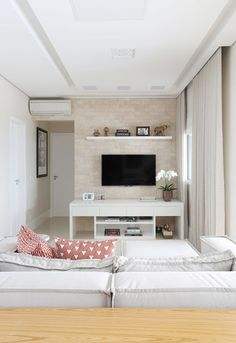 Clever and Stylish Living Room Storage Ideas Living Room Plan, Living Room Storage, New Living Room, Small Living Rooms, Home And Living, Living Room Designs, Living Room Decor, Bedroom Decor, Grands Salons