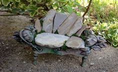 How to Make Fairy Furniture with Clay & Rocks, DIY Fairy Garden Bench
