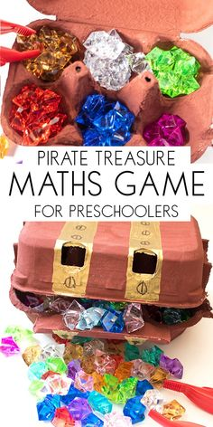 How To Produce Elementary School Much More Enjoyment Create Your Own Pirate Maths Game For Counting And Sorting Ideal For Preschoolers. Make A Treasure Chest And The Sort And Count The Pirates Treasure. Preschool Pirate Theme, Preschool Math Games, Pirate Activities, Toddler Preschool, Preschool Activities, Math Games For Preschoolers, Counting Activities, Toddler Crafts, Pirate Kids