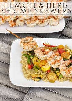 Lemon and Herb Shrimp Skewers Recipe