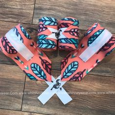 Set of 4 Coral Feather Polo Wraps Horse Girl, Horse Love, Bride Cheval, Polo Wraps, Barrel Racing Tack, Horse Accessories, Blue Roan, Light Of My Life, Horse Tack