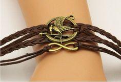 Mockingjay hunger game bird inifite love bracelet