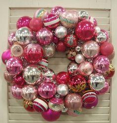 vintage glass ornament wreath
