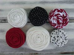 Eva fabric rosettes by sugarsugarhigh on Etsy, $9.00