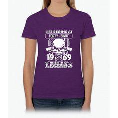 Gift 1969 The birth of Legends Shirt Womens T-Shirt
