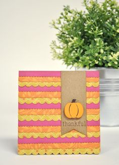 Simple Sentiment card with scallops