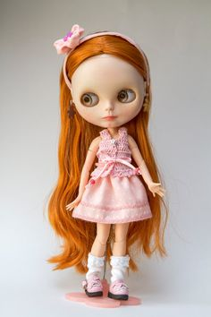 ON RESERVE - SALE Blythe Set Skirt and Top plus Headband in Pink Handmade for…