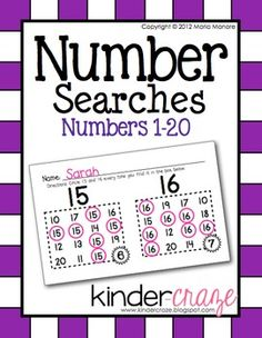 Boost number recognition with Number Searches for Numbers 1-20, $1.50