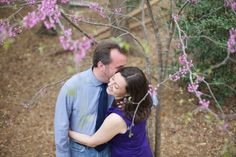 romantic spring engagement photography - southern engagement photographer, raleigh nc