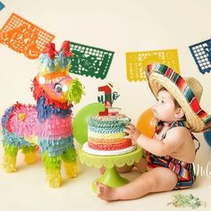 SombreroChildren's sombrero fiesta party boy girlprop smash cake outfitmexican me Mexican Birthday Parties, Birthday Themes For Boys, Baby Boy 1st Birthday, First Birthday Parties, Birthday Party Themes, Birthday Ideas, Kino Party, Fiesta Theme Party, Party Party
