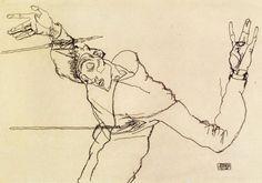 maertyrer: Egon Schiele - Selbstportrait als Hl. Sebastian (Self Portrait as St. Sebastian, 1914)