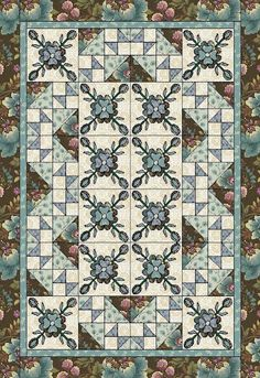 Americana Florals in THE QUILTER's January 2011 | Ivory Spring