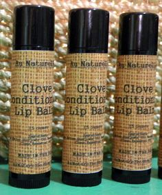 Fall Collection   Clove Conditioning Lip Balm   .15 by aunaturelle, $3.50
