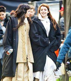 Lana, Ginny & Sarah on the set of OUAT, November 26, 2013