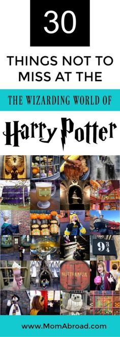 There is so much magic at the Wizarding World of Harry Potter in Orlando, Florida that can easily be missed if you don't know where and what to look for. Here are 30 thing not to miss at the Wizarding World of Harry Potter including hidden gems and top ti Orlando Travel, Orlando Vacation, Disney World Vacation, Florida Vacation, Florida Travel, Disney Vacations, Disney Trips, Orlando Disney, Family Vacations