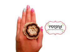 Anillo tejido en la tecnica de crochet, trabajo artesanal hecho a mano Ref: ava02 Druzy Ring, Rings, Jewelry, Craft Work, Hand Made, Tejidos, Accessories, Manualidades, Jewlery