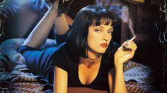Uma Thurman in Pulp Fiction. Interesting transformation.