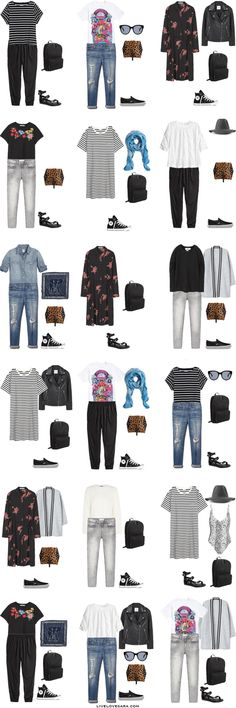 What to Pack for Italy and Paris Packing Light List Modern Grunge Style Outfit Options | Packing Light | Packing List | Travel Light | Travel Wardrobe | Travell Capsule | Capsule | Capsule Wardrobe | Travel | Travel tips | What to Pack Italy | Livelovesara