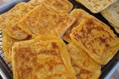 Moroccan Recipes for Eid Al-Fitr: Msemen - Square-Shaped Moroccan Pancakes (Rghaif)