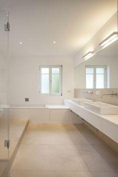 gäste wc fliesen modern stil für badezimmer mit beige fliesen von ... - Bodenfliesen Beige