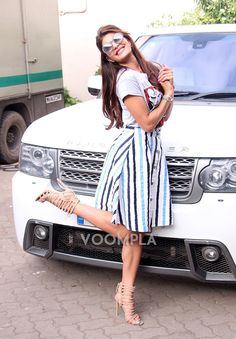 White Range Rover car owned by Jacqueline Fernandez