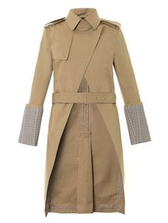 Logo-print cuff trench coat | Alexander Wang | MATCHESFASHION.COM