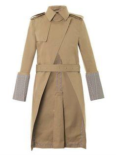 Alexander Wang Logo-print cuff trench coat MATCHESFASHION.COM #MATCHESFASHION