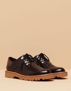 Pull&Bear - mujer - zapatos mujer - blucher cerco - burdeos - 15585011-I2015