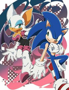 Sonic the Hedgehog and Rouge the Bat