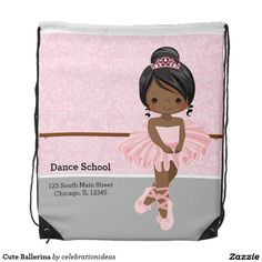 Sold. #Cute #Ballerina #DrawstringBackpack #ballet #pink Available in different products. Check more at www.zazzle.com/celebrationideas