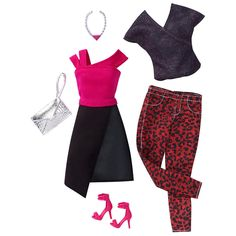 Barbie 2 Pack Fashions Outfit for Doll - Edgy #MattelBarbie