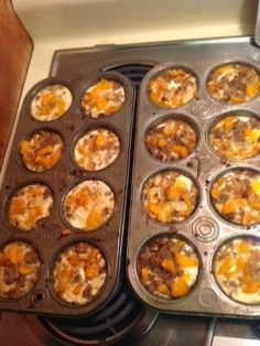 Healthy, Fun, and Fit: Paleo Breakfast Cups. Make with bacon and cheese