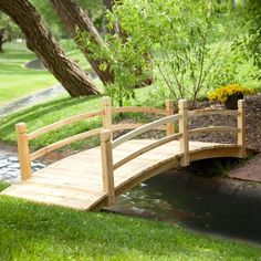 bridge - similar design to the one we want to build this summer.  Cedar wood.