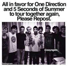 Yes, please. (But this time they better come to my city, as I missed them on the TMH tour and they missed me on the WWA tour)>>i really want them to tour together again