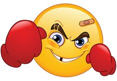 Illustration of Boxer emoticon vector art, clipart and stock vectors.