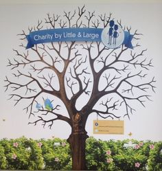Our charity tree, watch it grow