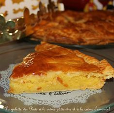 Galette des rois à la crème d'amande et crème pâtissière, pâte feuilletée rapide de Mercotte