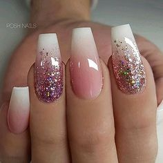 Ballerina Nail Art Tips Transparent/Natural False Coffin Nails Art Ti. - - Ballerina Nail Art Tips Transparent/Natural False Coffin Nails Art Tips Flat Shape Full Cover Manicure Fake Nail Tips Cute Nails, Pretty Nails, My Nails, Salon Nails, Glam Nails, Beauty Nails, Winter Nail Designs, Nail Art Designs, Nails Design