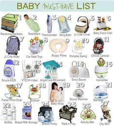 Huge list of new baby must haves! Great for the registry...