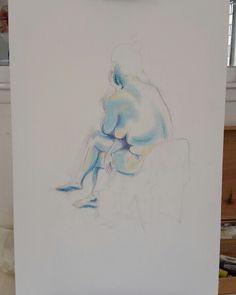 Sketch from life on canvas -work in progress www.francescalicchelli.it